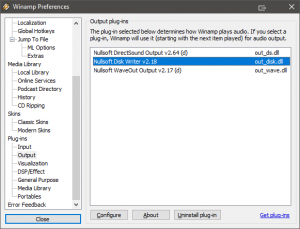 Nullsoft Disk Writer selected
